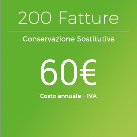 Conservazione Sostitutiva 200 Fatture